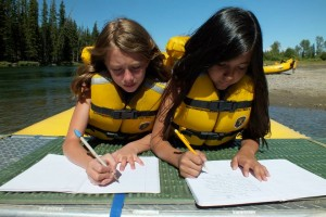 2 girls writing